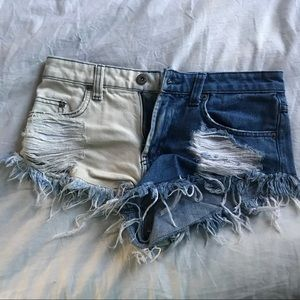 LF Carmar Two-Time Denim Jean Shorts Size 24